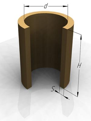 Открытые цилиндрические вставки